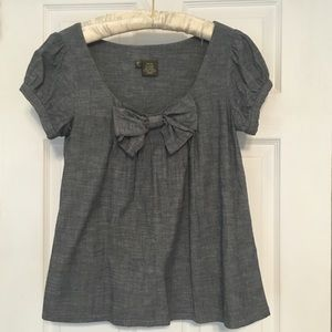 anthropologie fei chambray top